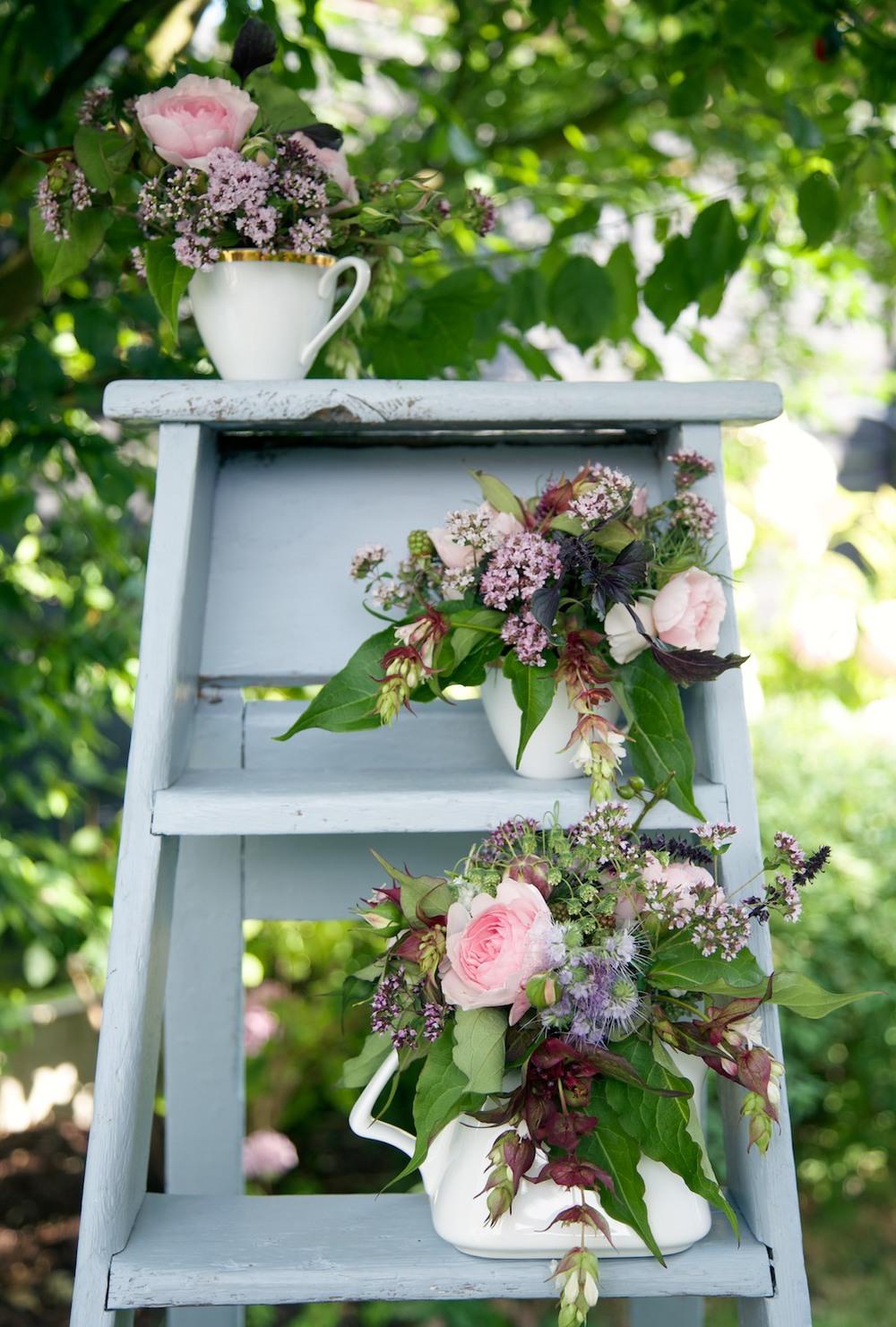 Wedding flower ladder