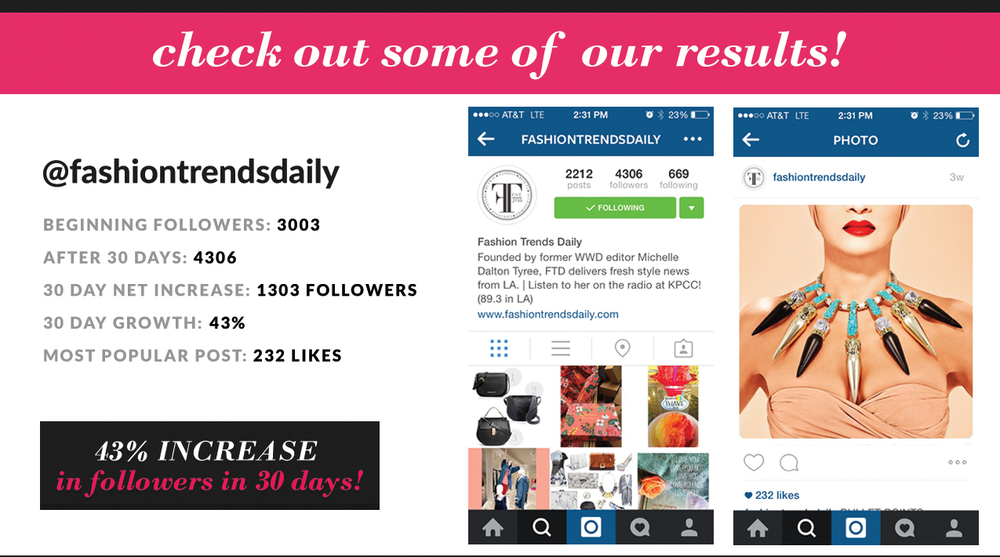 CLICK HERE TO SEE @FASHIONTRENDSDAILY'S CURRENT FOLLOWER COUNT