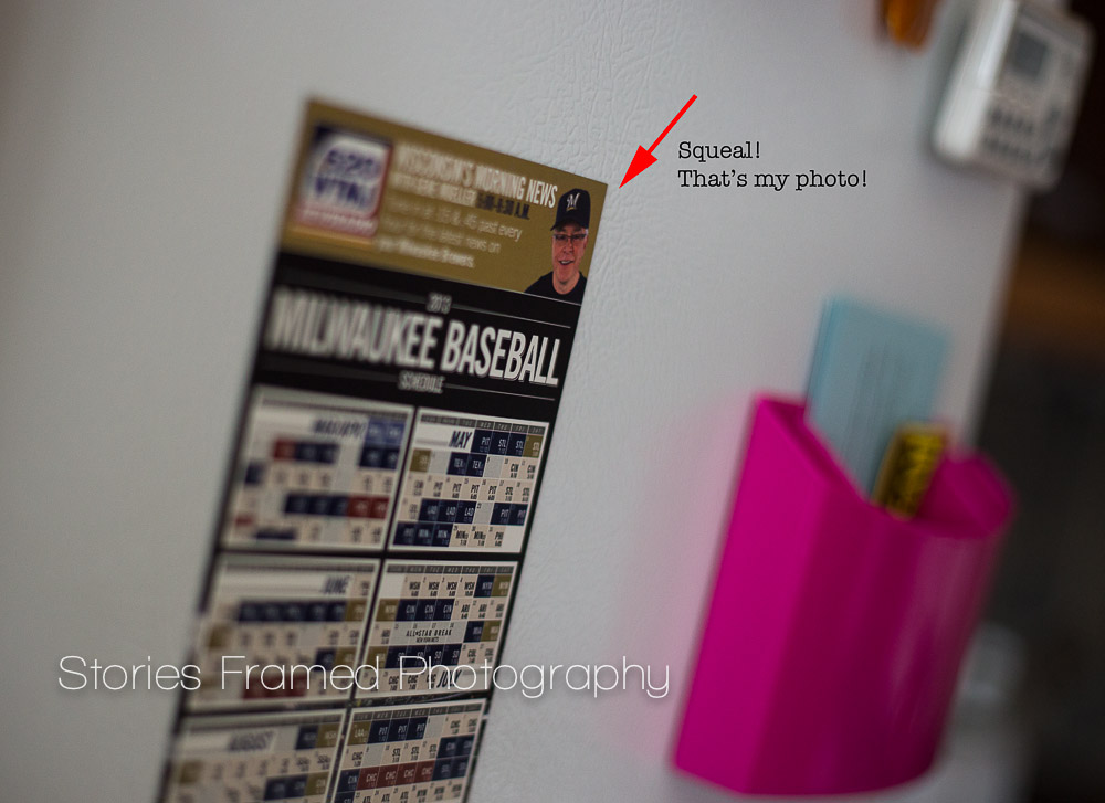 This magnetic Brewers schedule is hanging right on my fridge.