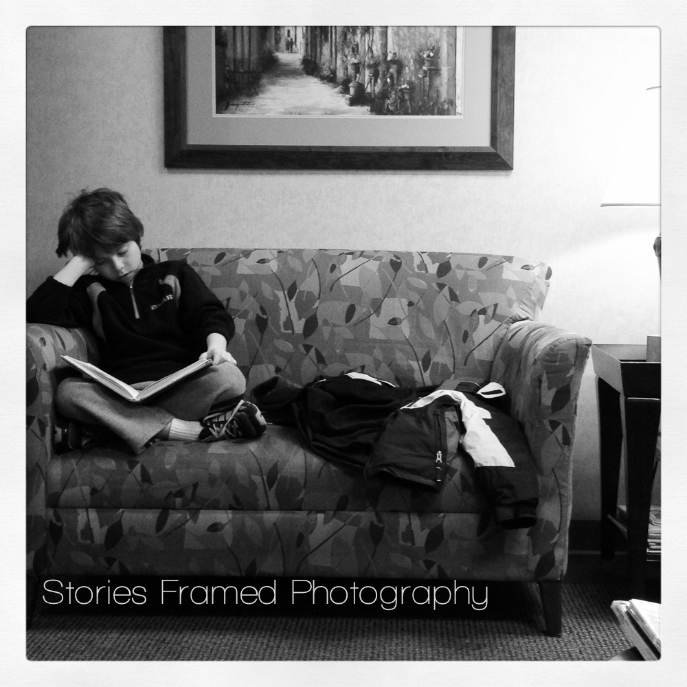 week 4 01.20.14 David is my waiting room buddy. He is a very patient brother. We always make sure to have a book to read or my IPhone charged.