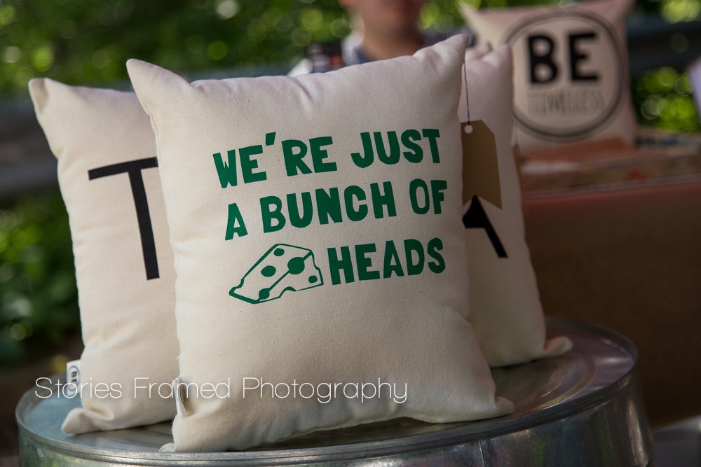 Stories Framed Photography | Tosa Farmers Market | cheesy pillow