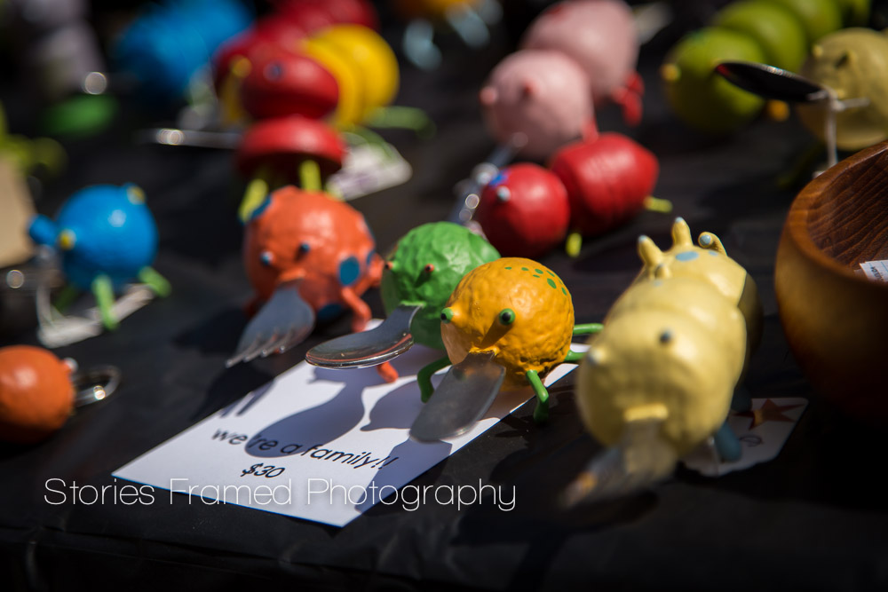 Stories Framed Photography | Tosa Farmers Market | WoodFolks fun silverware