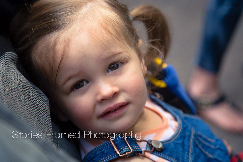 Stories Framed Photography | Tosa Farmers Market | cute girl in a stroller