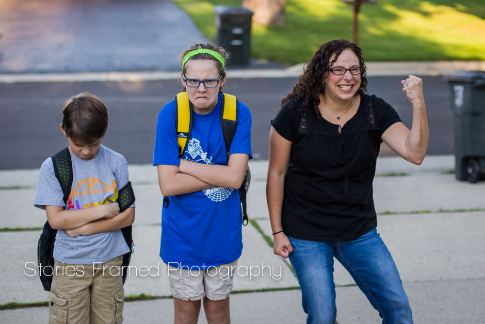 Back to School and Mom is SO Excited | Stories Framed Photography | Wauwatosa Family & Child Photographer