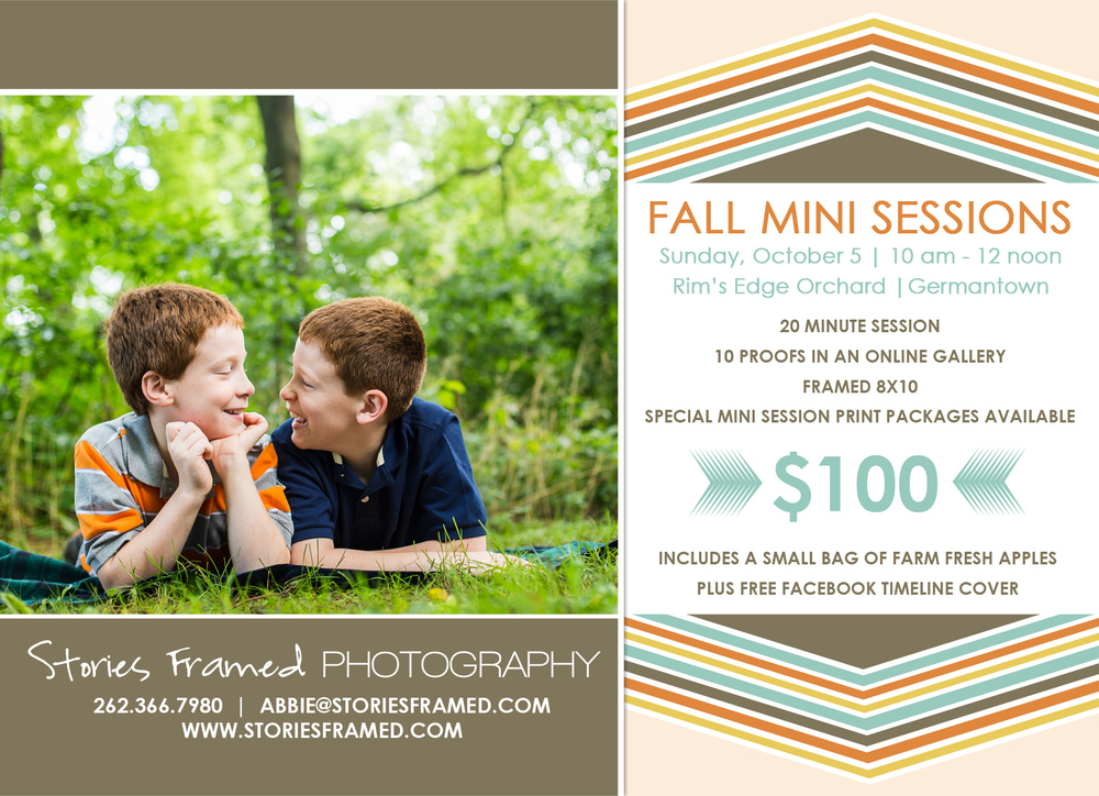 Stories Framed Photography | Fall Mini Sessions | Rim's Edge Orchard | October 5, 2014