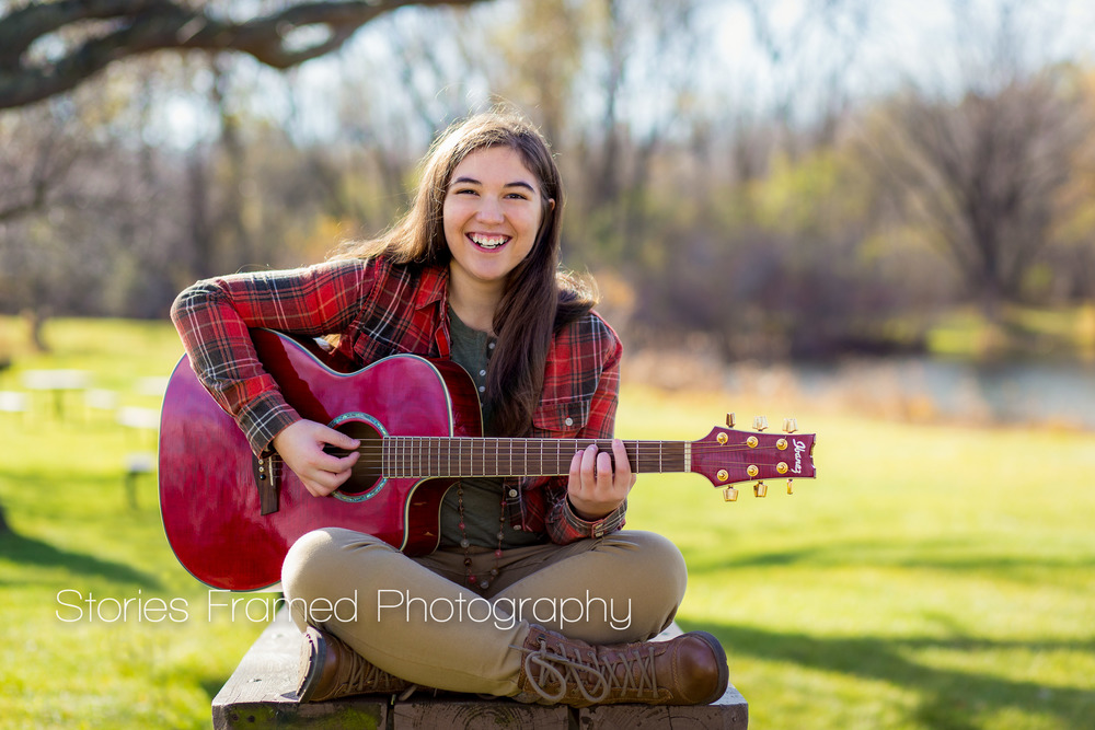 Stories Framed Photography | senior portraits | girl with a guitar