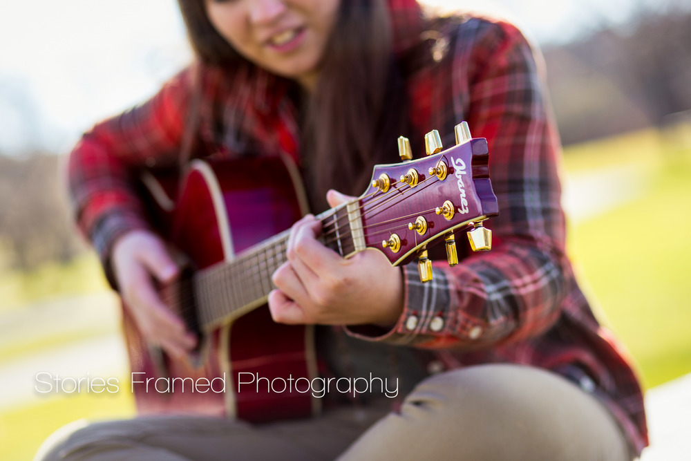 Stories Framed Photography | close up playing guitar