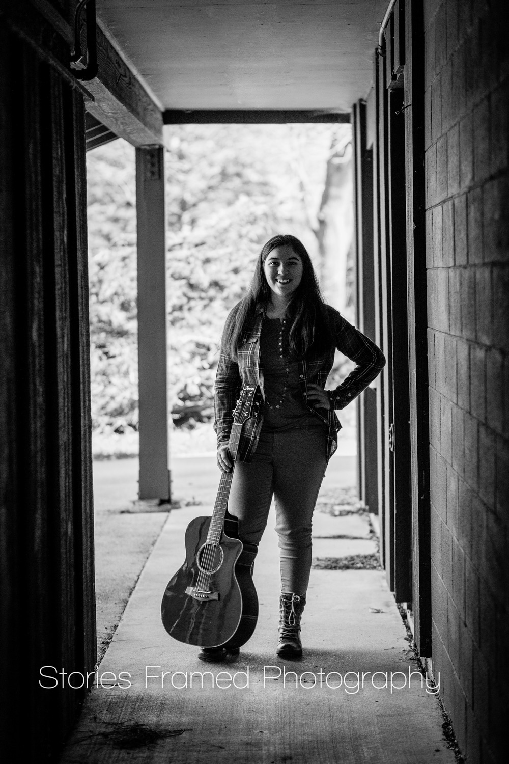 Stories Framed Photography | senior pictures | Pius XI HS class of 2015 | silhouette with guitar