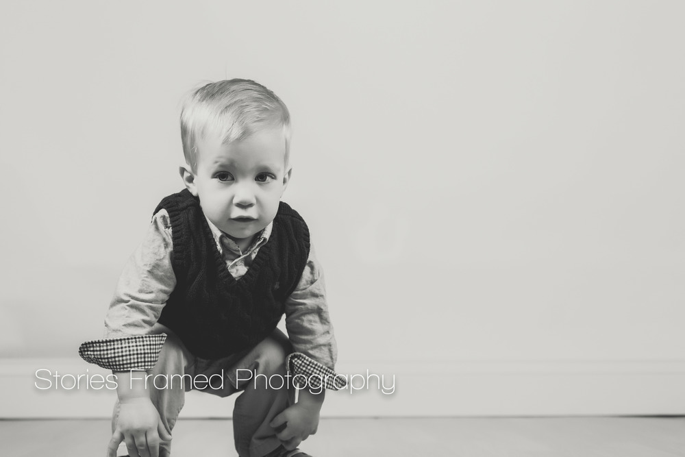 Stories Framed Photography | little boy | B+W