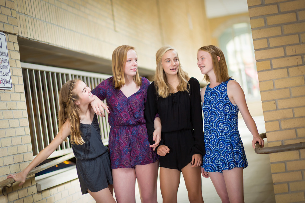 group tween portrait of four girls