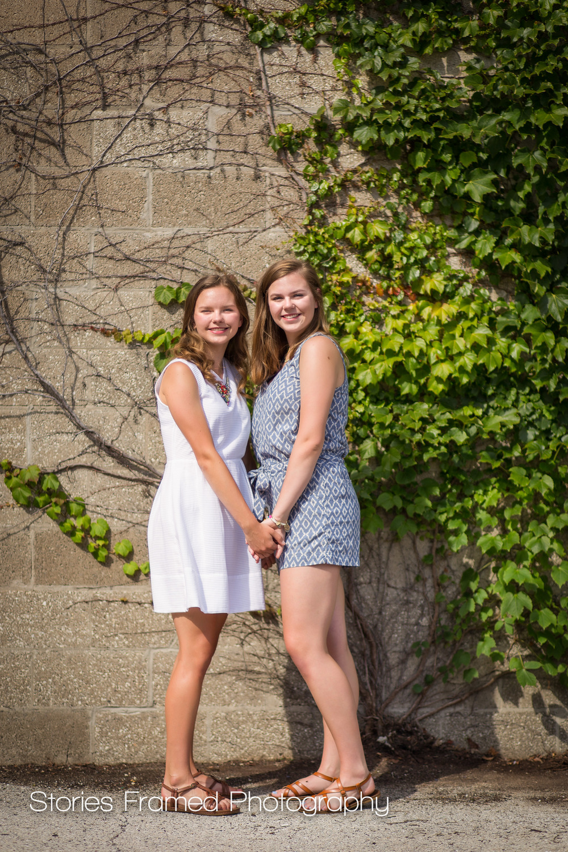 Twin sisters | high school | Milwaukee portraits