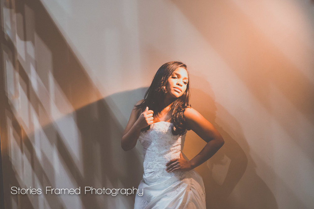 Imaging USA | portrait session bride light and shadow