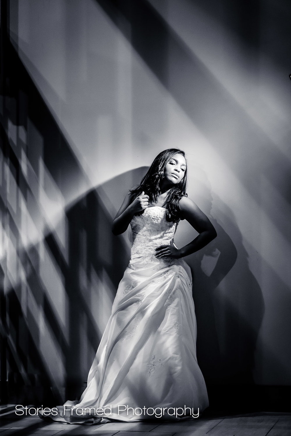 Imaging USA | wedding portraits b&w full length