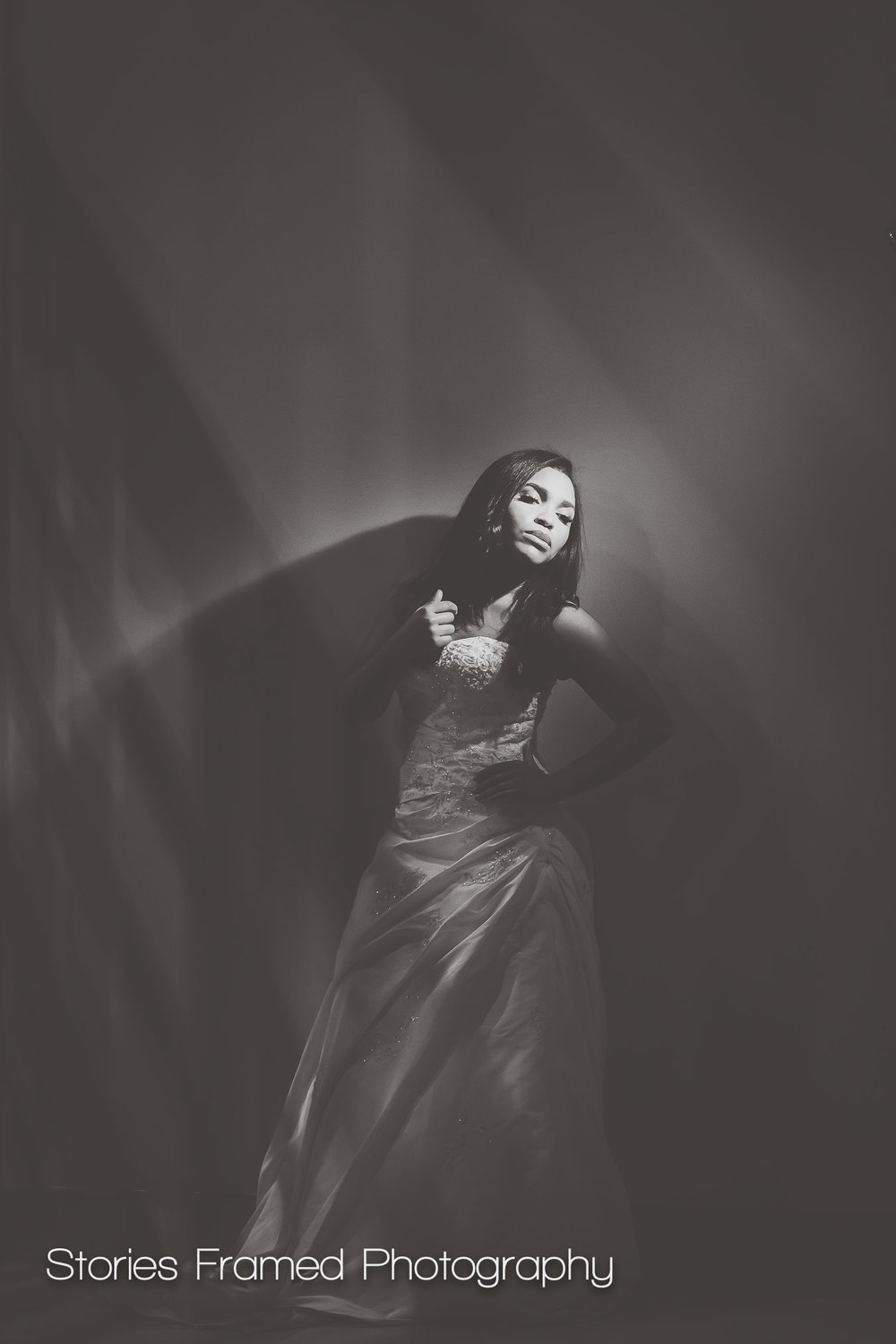 Imaging USA | bridal portraits b&w matte