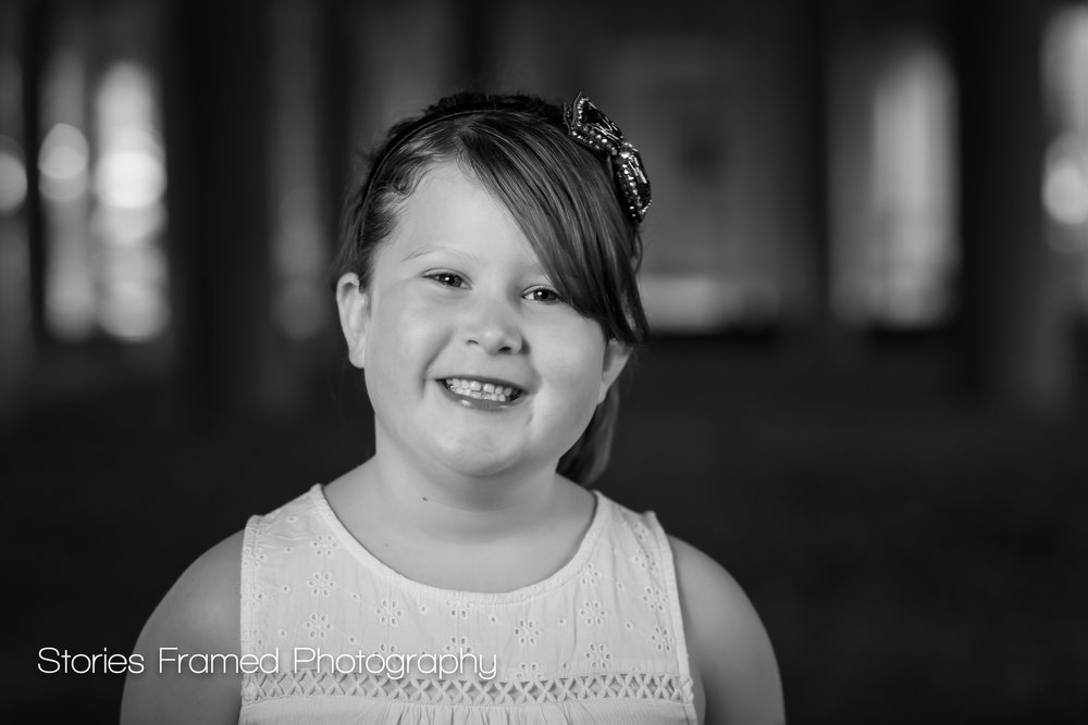 Wauwatosa Family Photos b+w young girl