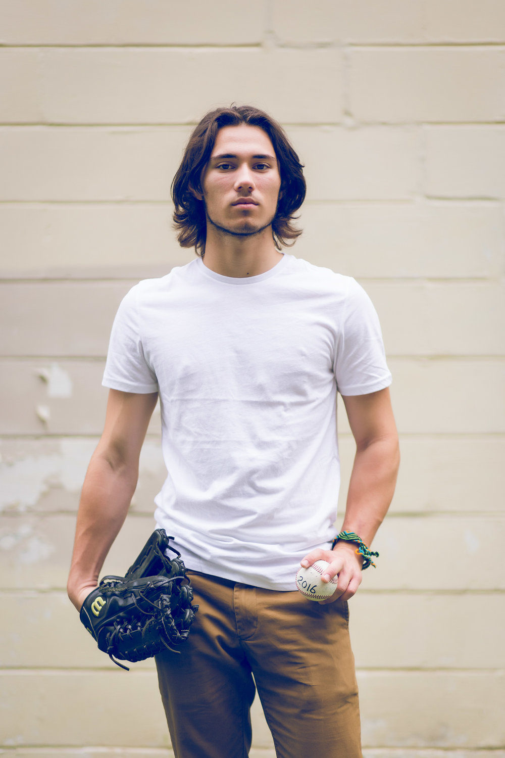 senior photo of a baseball player