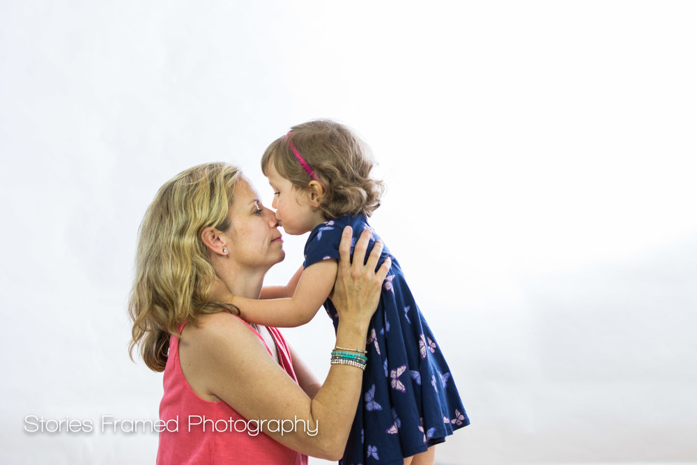 Wauwatosa mommy and me nose kisses portrait