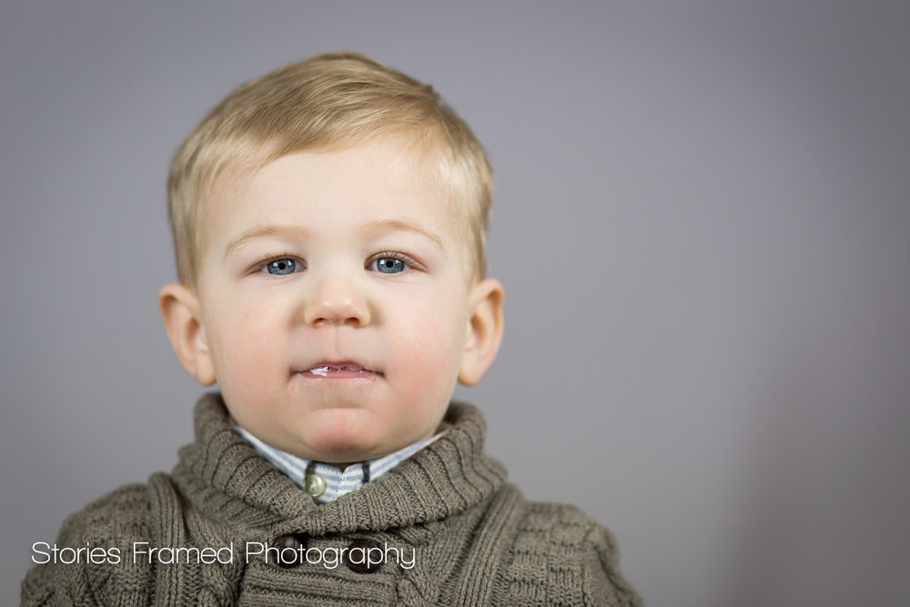 Elm Grove child portraits boy with drool