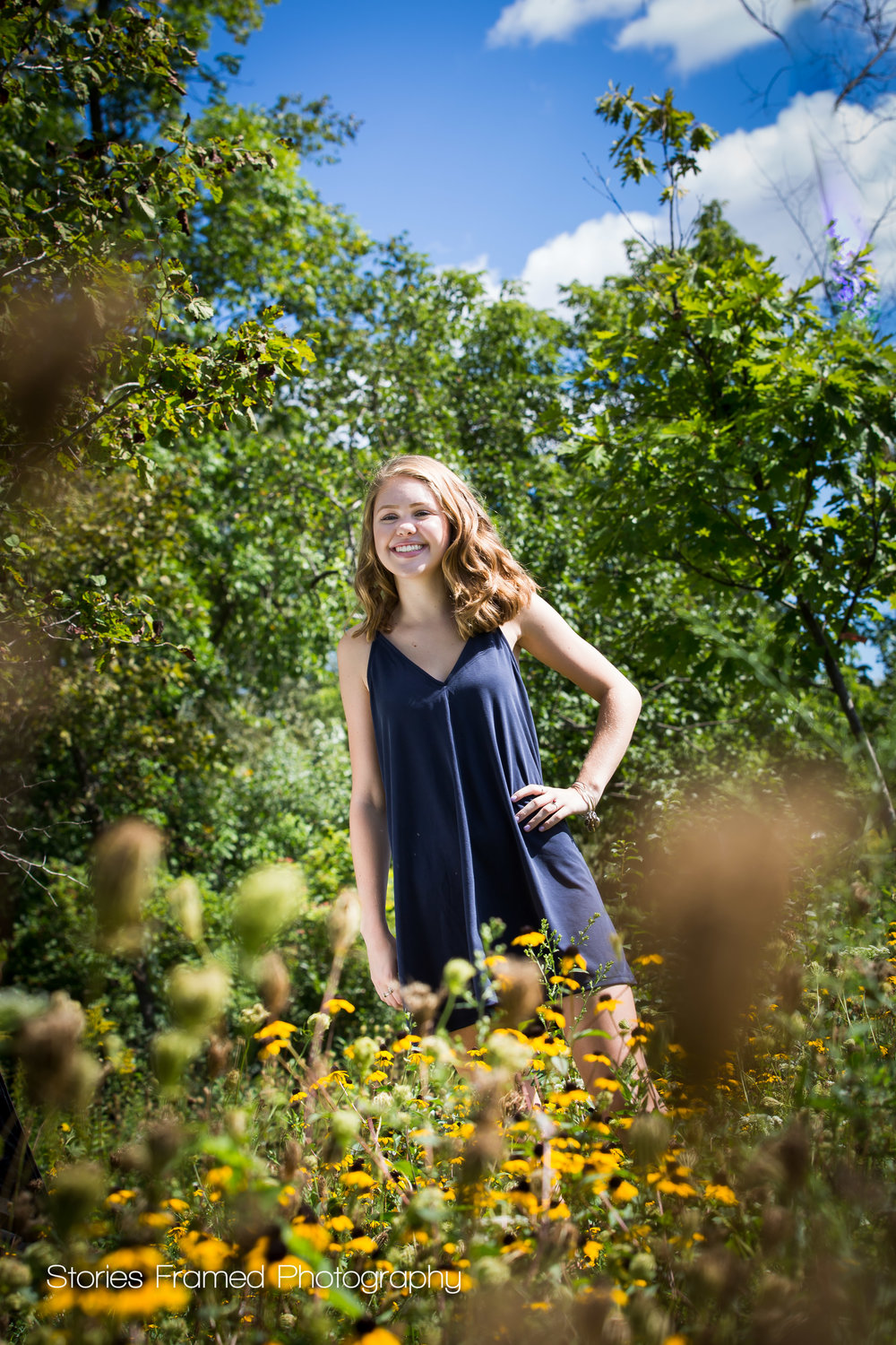 Stories Framed Photography | MKEseniors | girl in flowers