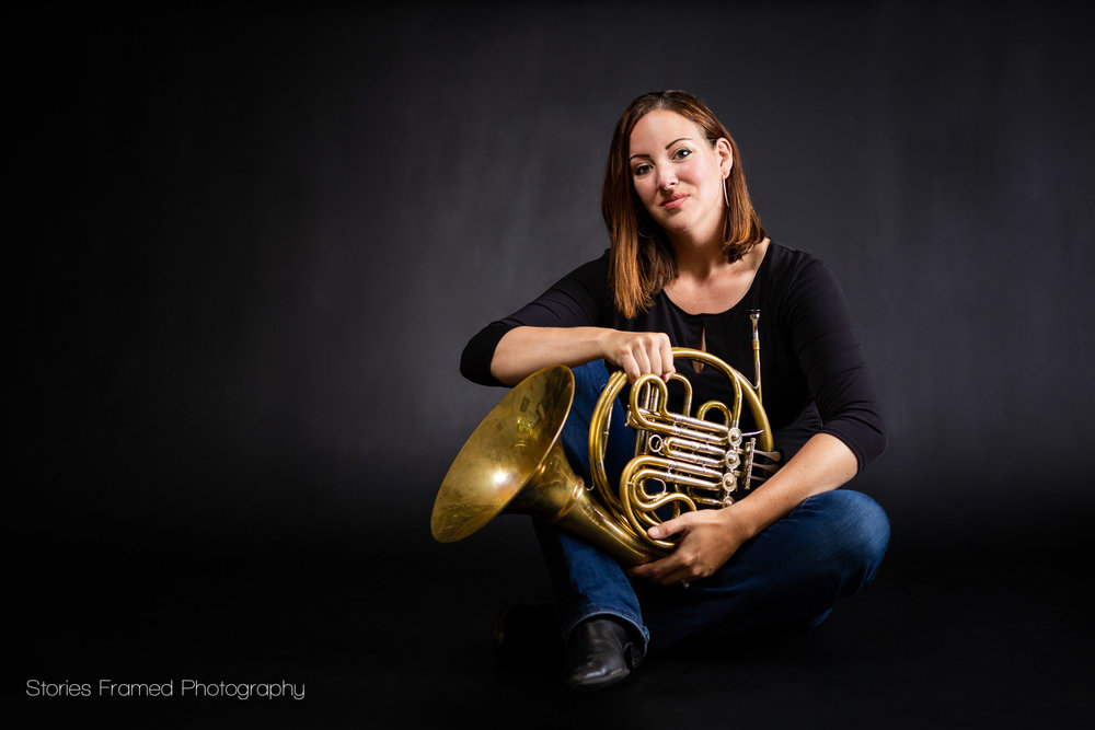 woman horn player