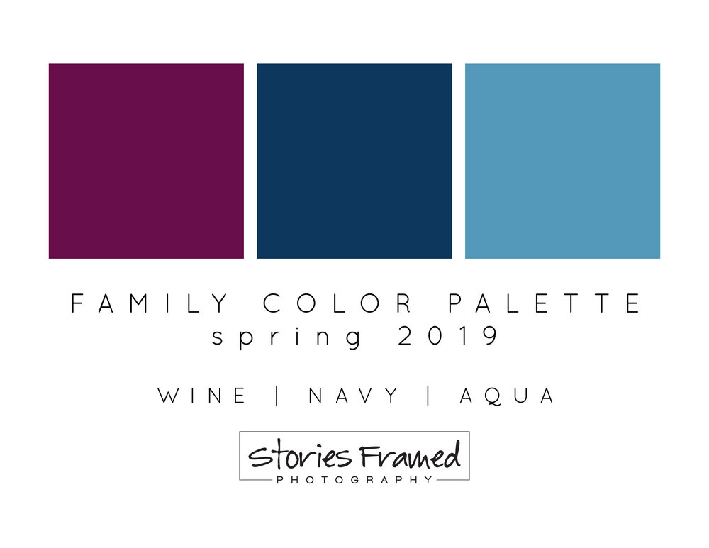 spring color palette for family photos