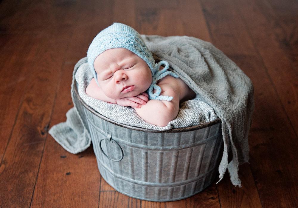 newborn baby in home