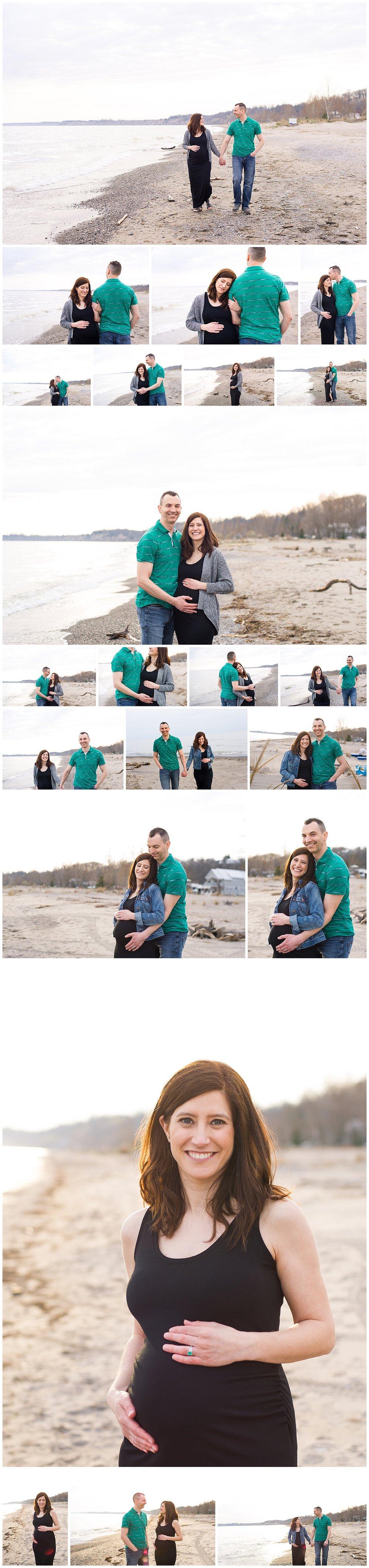 Beach Maternity Photo session - London, Ontario Canada