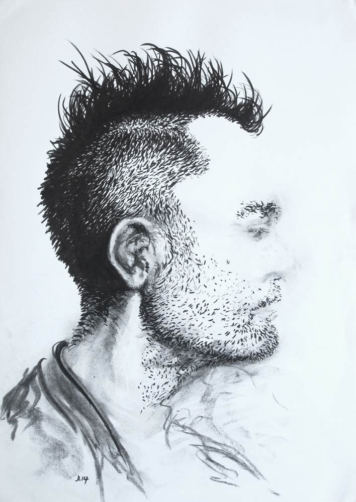 'hair man' unframed