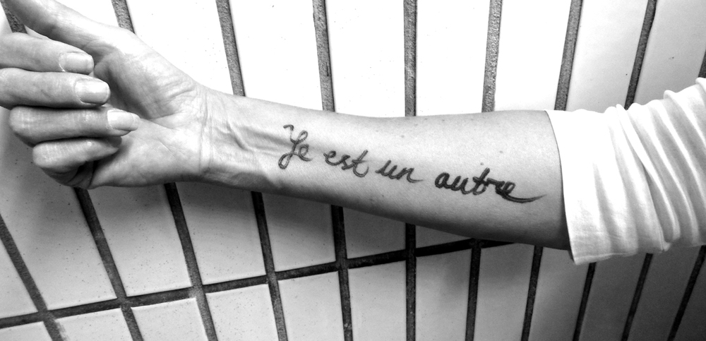 """Rimbaud """"je est un autre"""" this arm...."""