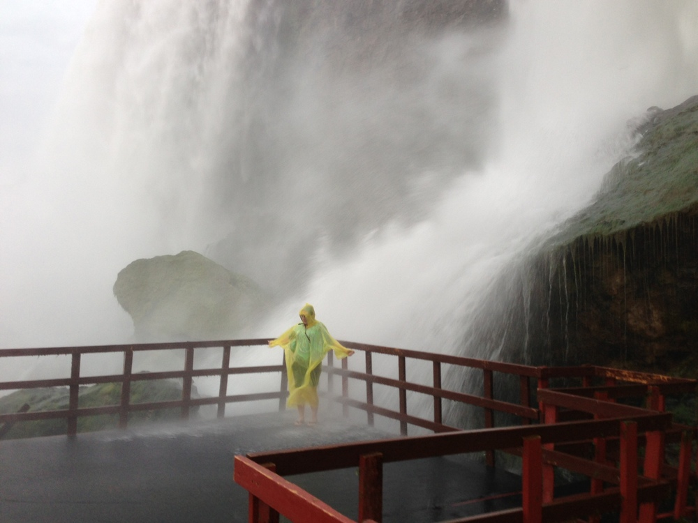 Delise on the Hurricane Deck at Cave of the Winds - Niagara Falls