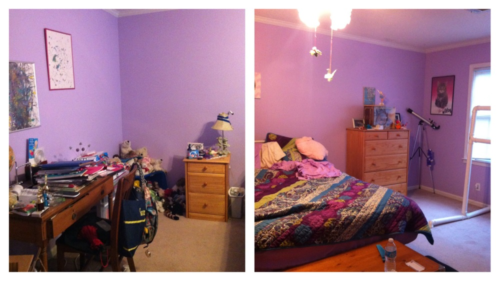 Savannah's room before the makeover.