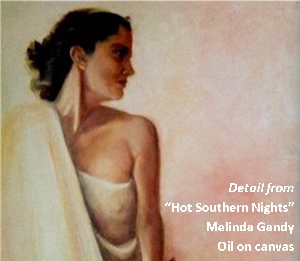 "Detail from ""Hot Southern Nights"" by Melinda Gandy"