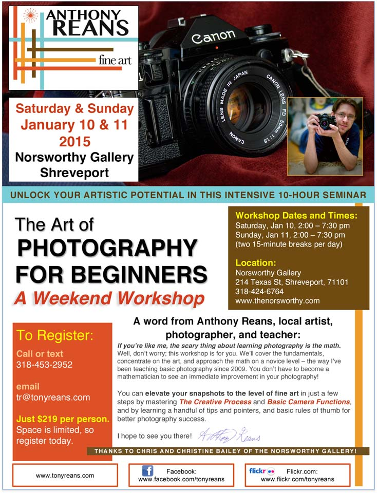 The Art of Photography for Beginners_Anthony Reans_Norsworthy Gallery_Shreveport LA.jpg