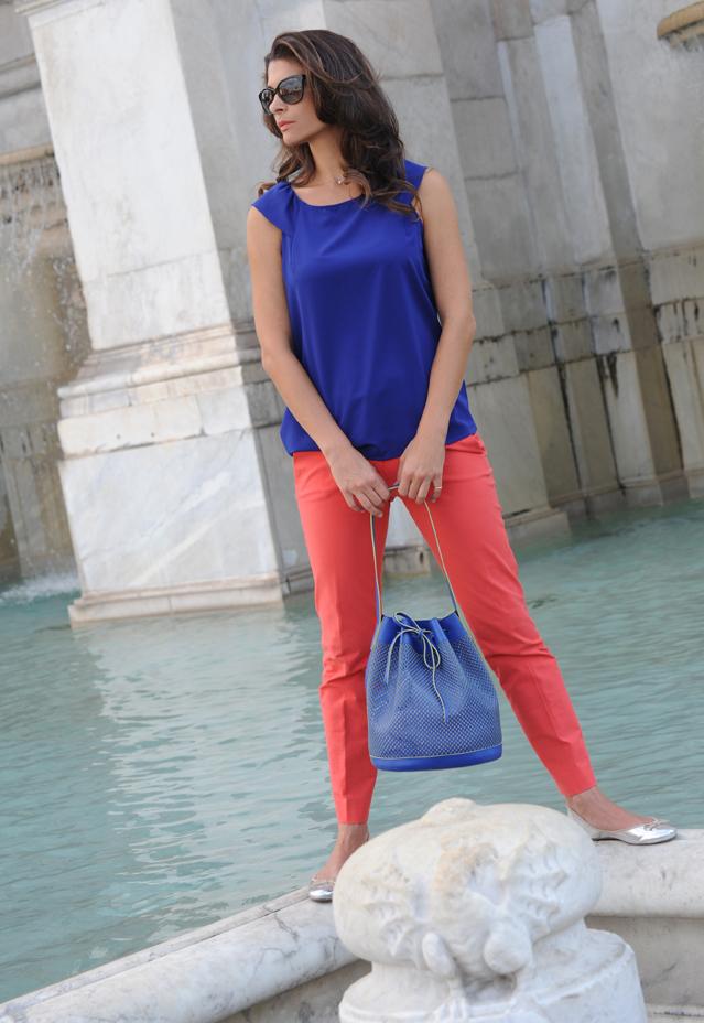 Alexandra de Curtis Blue Maxi Bucket