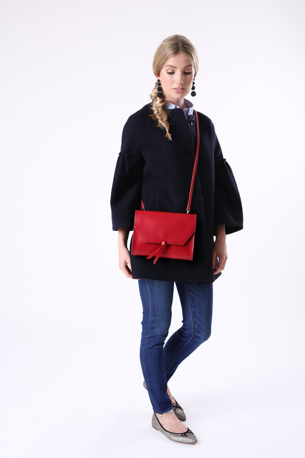 Alexandra de Curtis Red Crossbody Clutch