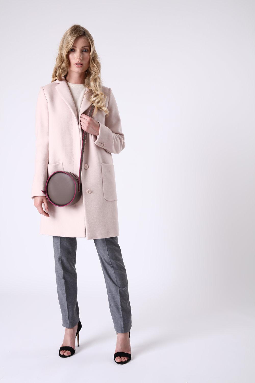 Alexandra de Curtis Taupe Circle Bag