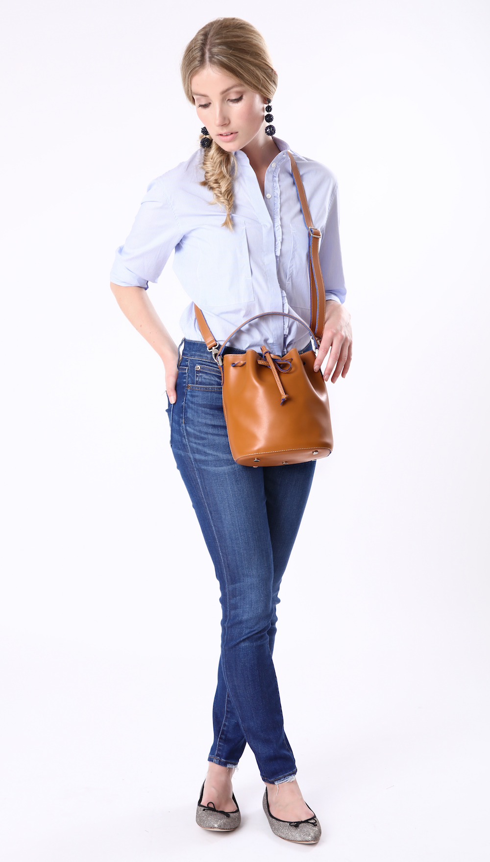 Alexandra de Curtis Cognac Mini Bucket