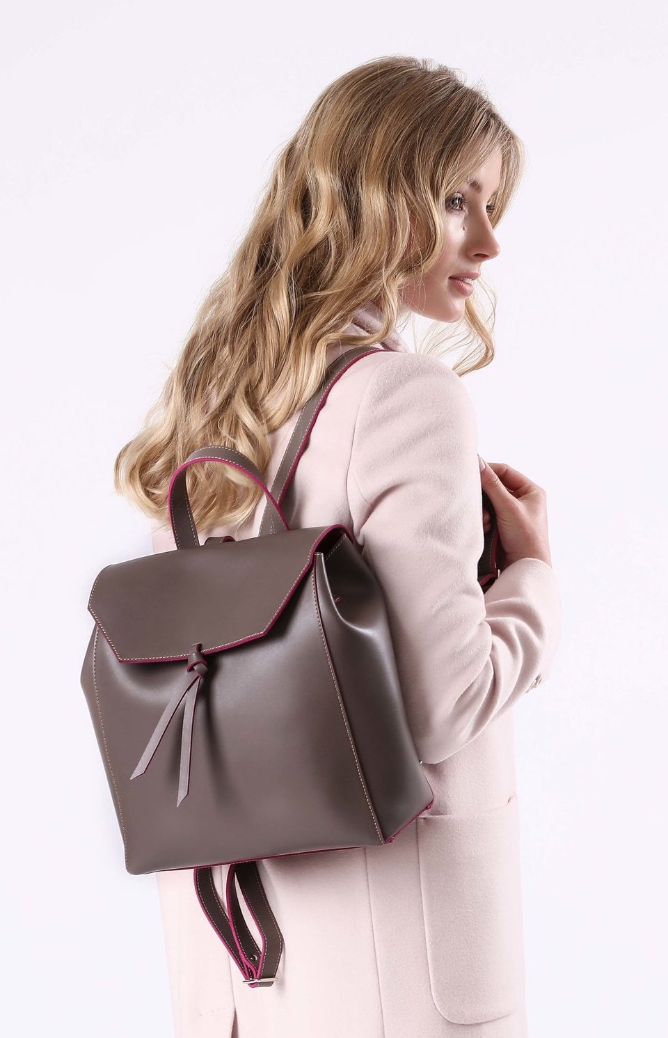 Alexandra de Curtis Taupe Backpack