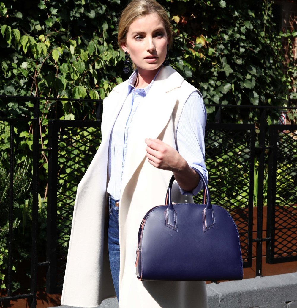 Alexandra de Curtis Navy Bowling Bag