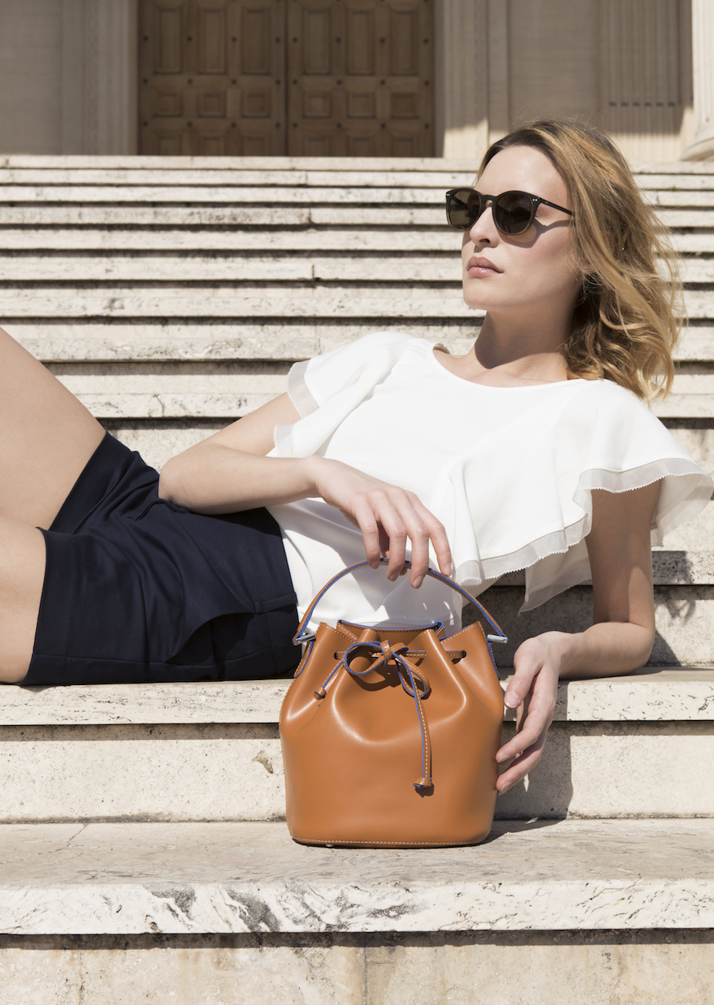 Alexandra de Curtis Mini Bucket Cognac LOW.jpeg