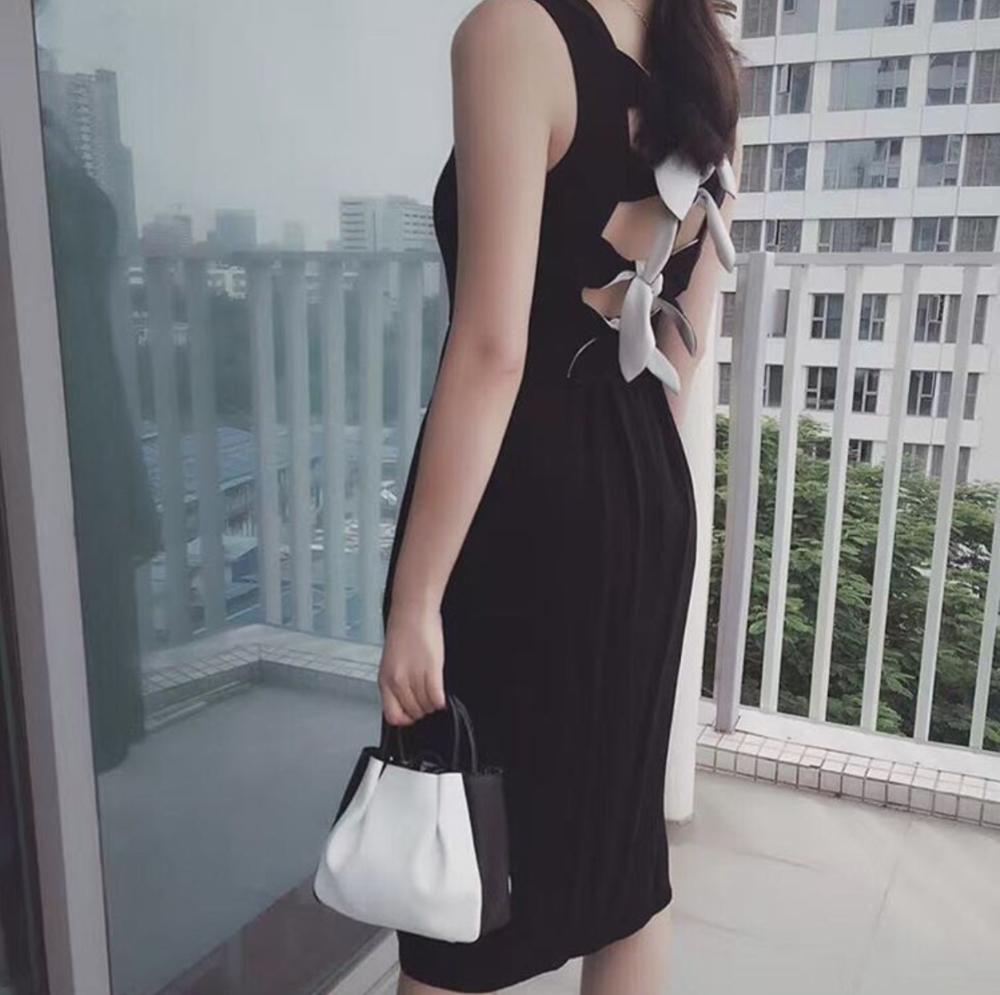 Alexandra de Curtis_Mini Ruched Tote_Black White.png
