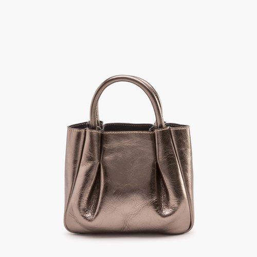 8e92329ec877 Mini Ruched Tote - Bronze — Alexandra de Curtis