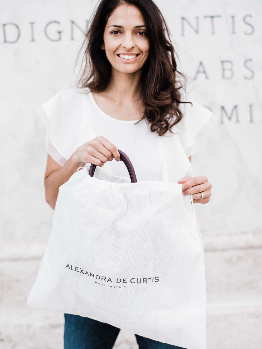 Alexandra de Curtis Meet the Designer Handbags
