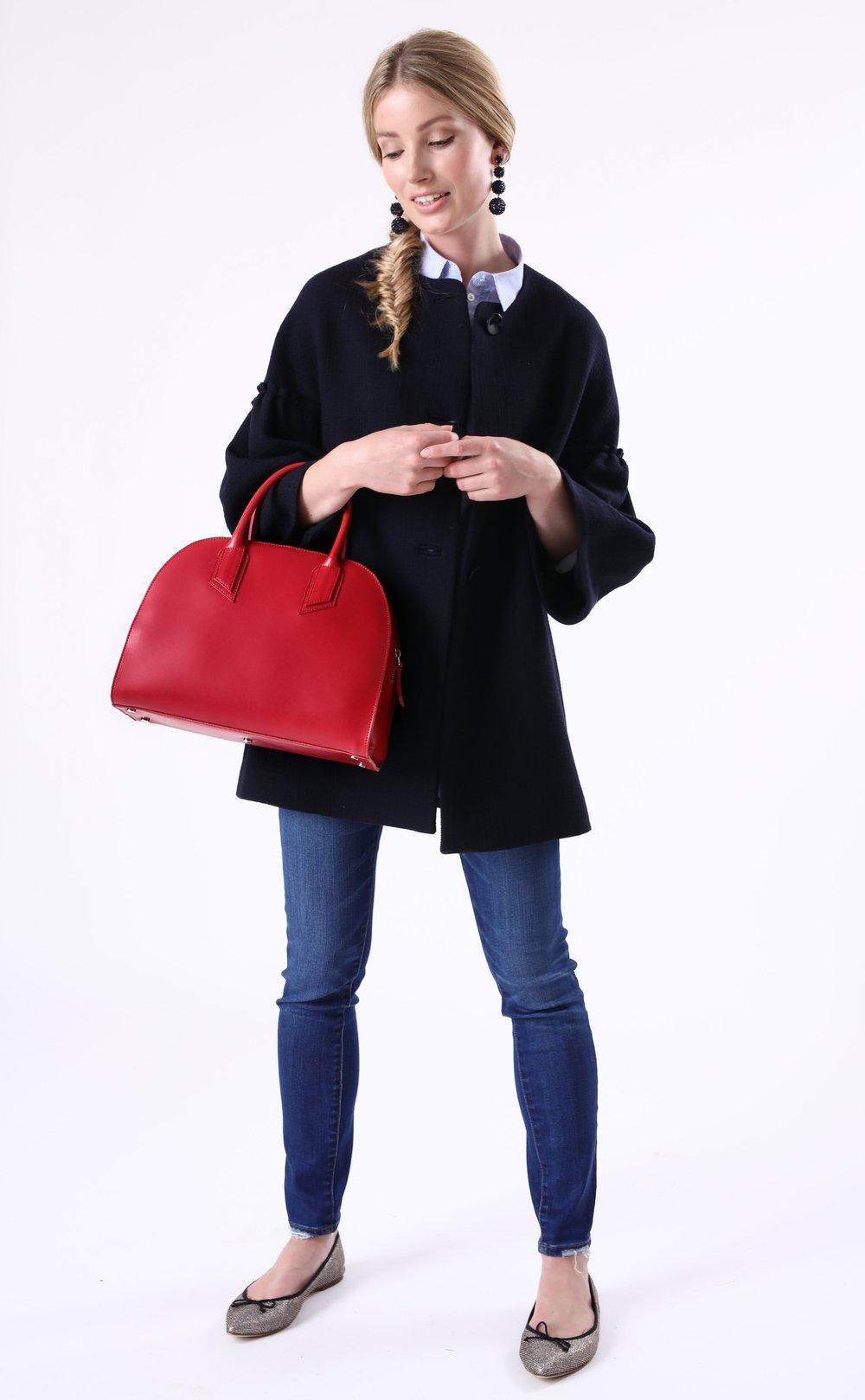 Alexandra de Curtis Red Bowling Bag
