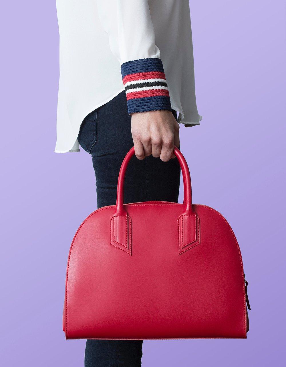Alexandra+de+Curtis+Red+Bowling+Bag