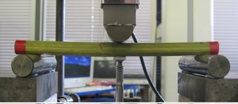 three-point bending tests on samples of hemp stalk.