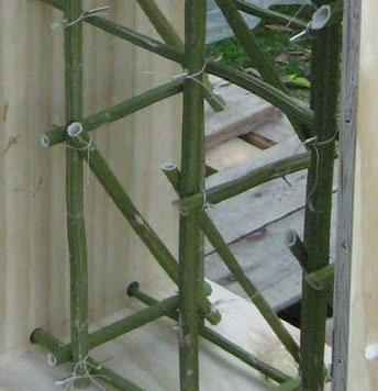 Space-frame made from hemp stalk