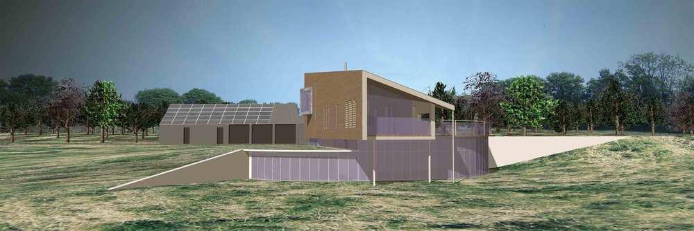 Modece architectural design. Clayhill Farm, Lavenham
