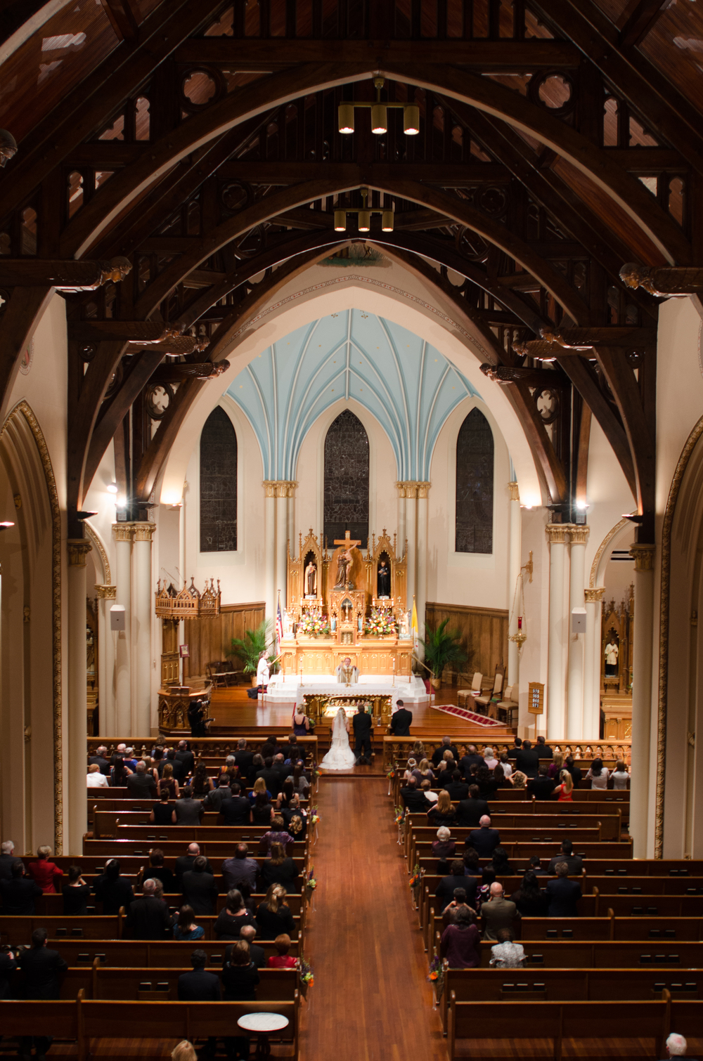 Wide View of Church Ceremony