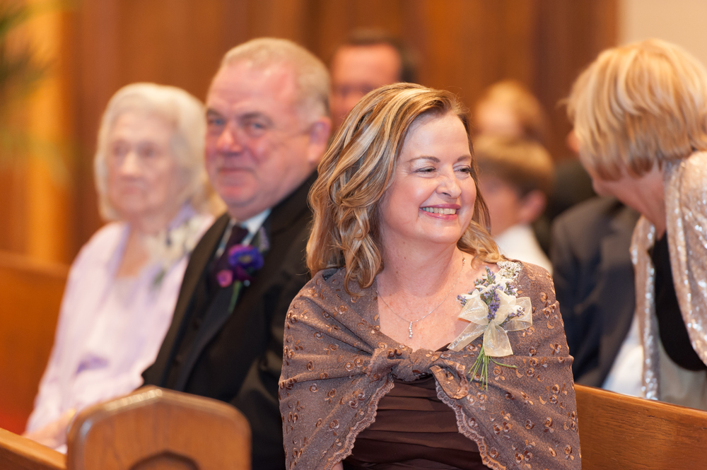 Candid Moment at Church Wedding